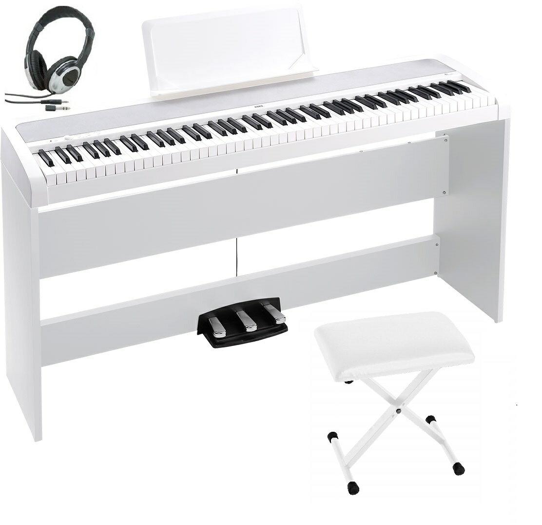 KORG B1SP WH コルグ 電子ピアノ ホワイト 専用スタンド STB1 3本ペダル 椅子 ヘッドホン(密閉型) オプション 専用カバー