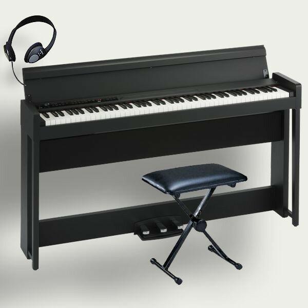 KORG 電子ピアノ C1 Air BK コルグ 椅子 ヘッドホン付