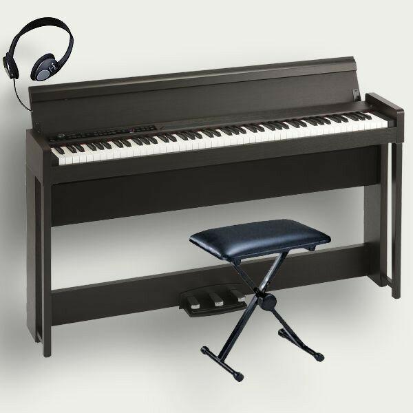 KORG 電子ピアノ C1 Air BR コルグ 椅子 ヘッドホン付