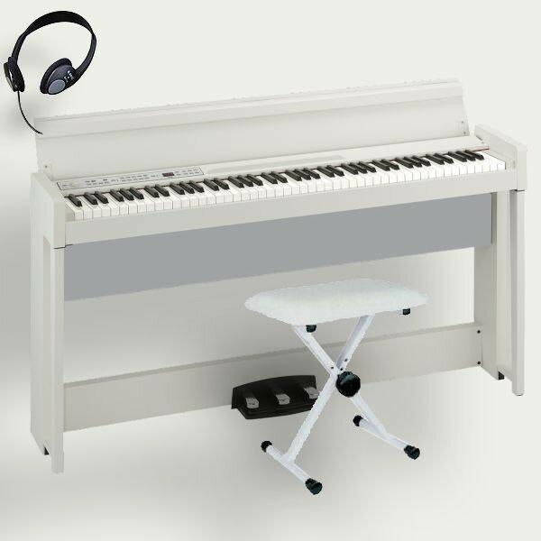 KORG 電子ピアノ C1 Air WH コルグ 椅子 ヘッドホン付