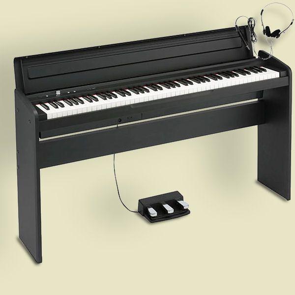 KORG LP-180 BK コルグ 電子ピアノ スタンド 3本ペダルユニット ヘッドホン付