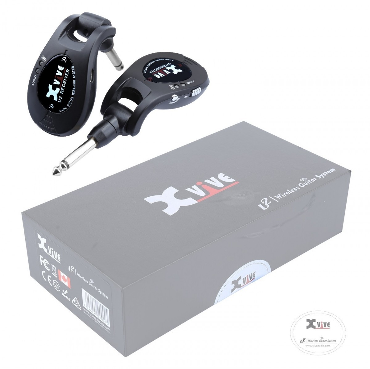 Xvive XV-U2 B デジタル ワイヤレスシステム ブラック XV U2
