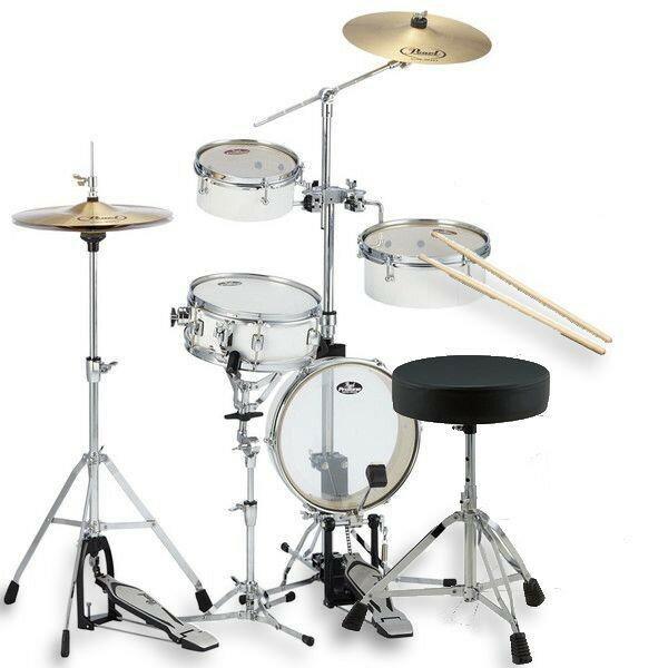 【最大36倍】【エントリーで20倍確定】【30日~1日】Pearl RT-5124N #33 PureWhite リズムトラベラー ライト ドラム椅子 スティック付