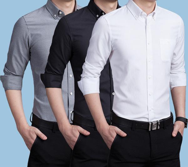 フォーマルシャツ メンズ 白シャツ ワイシャツ カジュアル ビジネスシャツ 永遠の定番モデル 長袖シャツ 通勤 通学 スリム 細身 無地 セール 正規品スーパーSALE×店内全品キャンペーン
