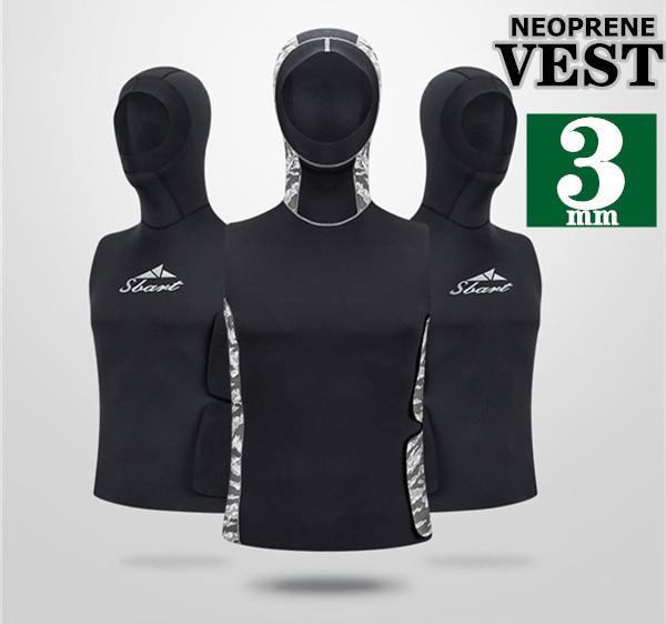 ウェットスーツ メンズ ベスト 3mm サーフィン ダイビングウェットスーツ ネオプレーン フード付き 釣り