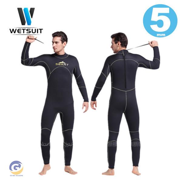 ウェットスーツ メンズ 数量限定 5mm サーフィン フルスーツ ダイビング ネオプレーン 釣り 新品未使用 バックジップ