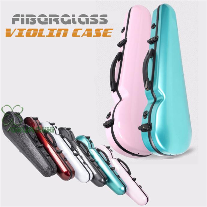 軽量かつ堅牢性持ち運び楽々バイオリンケース VIOLIN CASE バイオリンケースサイズ 4/4 楽器 管楽器 グラスファイバー製 軽量 堅牢 ケース クッション付き 3WAY リュック ショルダー 手提げ