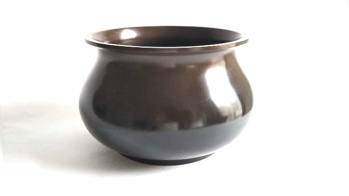 【中古】建水 茶道 高岡銅器 日本製 伝統工芸品