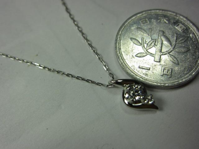 4℃Pt850ダイヤ入りネックレス【中古】
