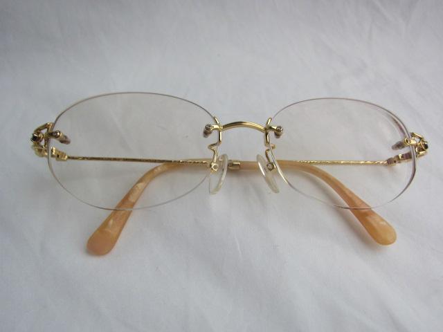 K18、メガネ枠【中古】