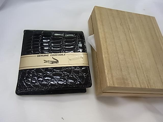 クロコワニ,折財布【新品】