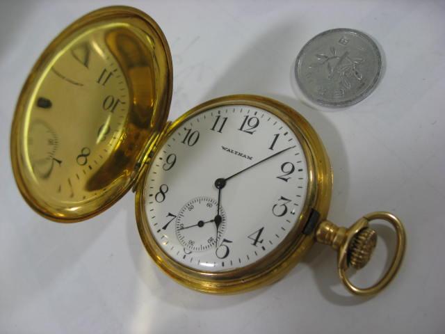 K18ウオルサム提げ時計【中古】