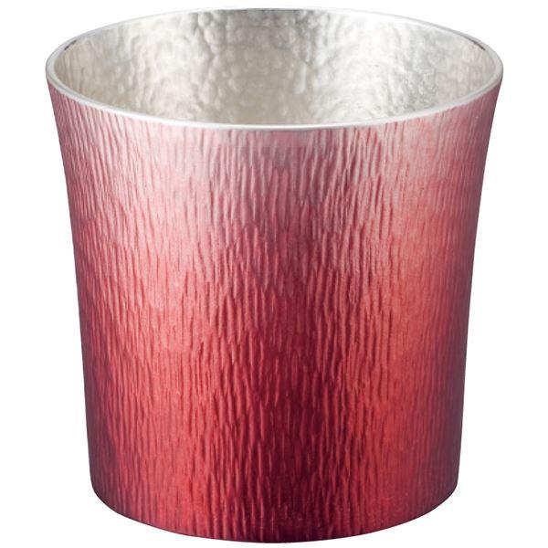 一生使える錫製タンブラーは最適な送り物です錫職人と塗装職人が試行錯誤の末完成させた究極の逸品 大阪錫器 錫製タンブラー 310ml(赤(HOKAGE))