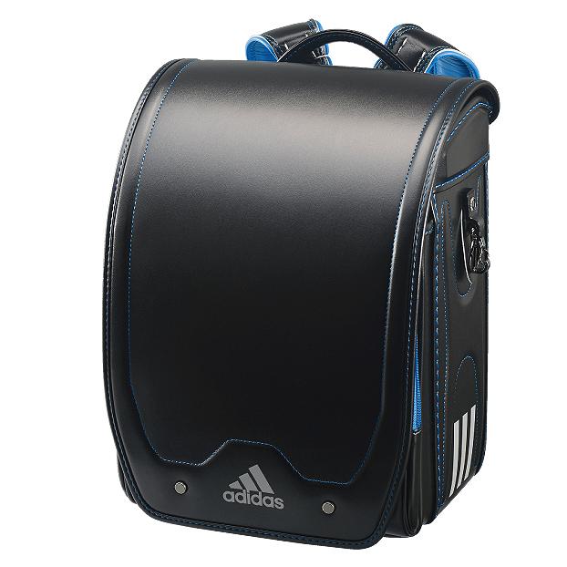アディダス キューブ型ランドセル ブラック/ブルー 男の子ランドセル 35619-12