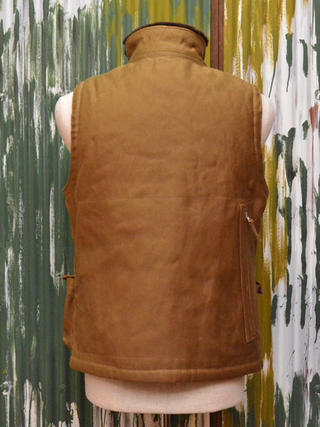 """Freewheelers over best """"WINTER AVIATOR's VEST"""" paraffin coated jungle cross-sepia-Brown"""