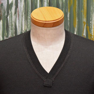 "Freewheelers Wool Sweater ""V-NECK SWEATER"" Jet Black"