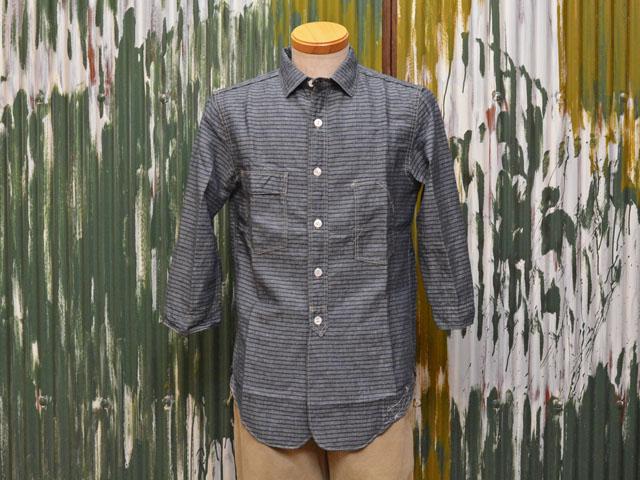 フリーホイーラーズ 8分袖ワークシャツ