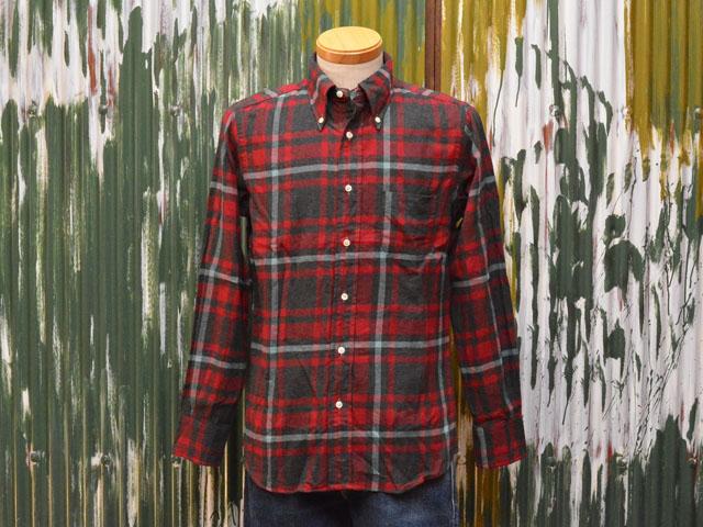 インディビジュアライズドシャツ L/S B.D. シャツ スタンダードフィット 1868 フランネル・チェック チャコール×レッド
