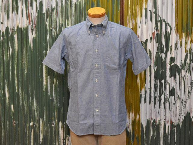 インディビジュアライズドシャツ S/S B.D. シャツ スタンダードフィット ヘリテージ・シャンブレー ブルー