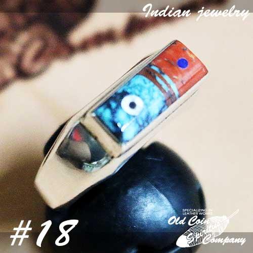インディアンジュエリー 販売 リング #18 使い勝手の良い シルバー ターコイズ コーラル Indian jewelry - Ring レディース メンズ おすすめ ギフト プレゼント