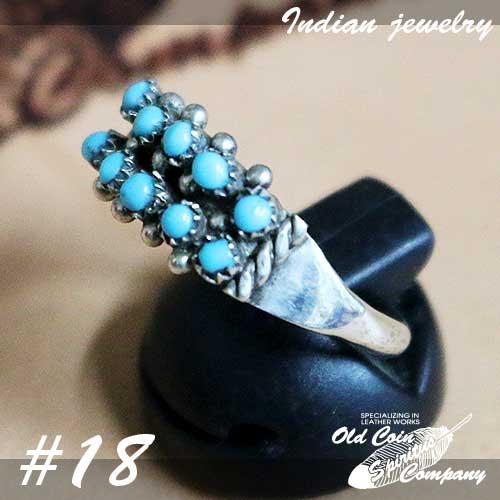 インディアンジュエリー リング #18 シルバー ターコイズ Indian jewelry 予約販売品 - 通販 Ring メンズ スリーピングビューティー プレゼント 鉱山 Sleeping ギフト レディース おすすめ Beauty