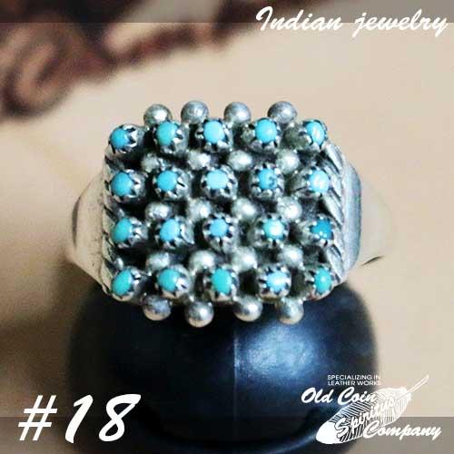 インディアンジュエリー リング #18 シルバー 人気の製品 ターコイズ Indian jewelry メンズ お値打ち価格で レディース プレゼント ギフト Ring - おすすめ