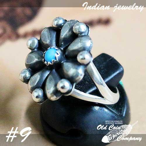 インディアンジュエリー リング #9 シルバー ターコイズ Indian 爆買い新作 jewelry 超安い - Ring レディース ギフト おすすめ Beauty メンズ プレゼント 鉱山 スリーピングビューティー Sleeping