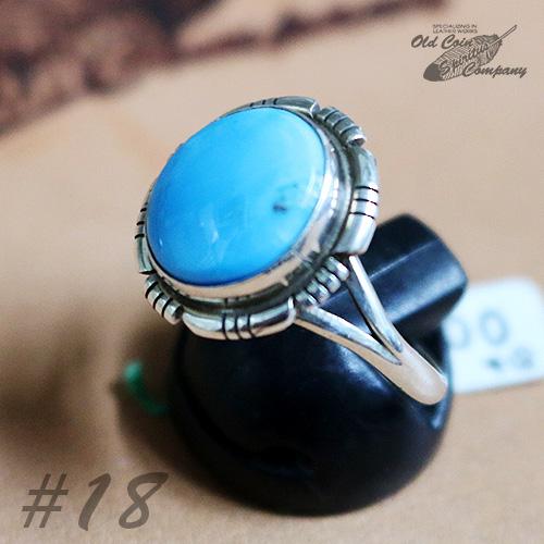 インディアンジュエリー リング #18 シルバー ターコイズ Indian jewelry - Ring プレゼント メンズ 商い 鉱山 キングマン おすすめ Mt レディース ギフト Kingman 新発売