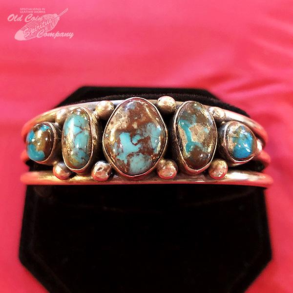インディアンジュエリー バングル ビズビー ブレスレット シルバー ターコイズ Indian jewelry - bracelet - Bisbee Mt ナンバーエイト 鉱山 メンズ レディース ギフト プレゼント おすすめ 最大幅17.5mm