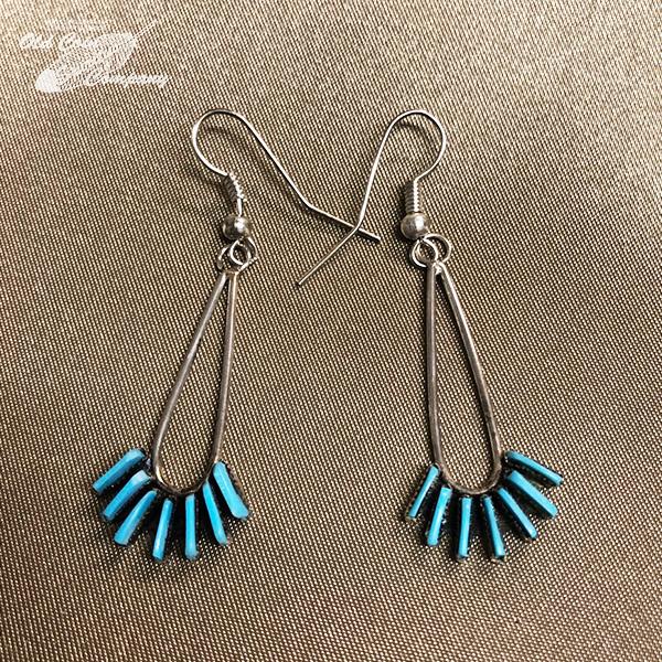 インディアンジュエリー ズニ族 ニードルポイント ピアス 大特価 シルバー ターコイズ Indian jewelry - プレゼント pierce スリーピングビューティー 鉱山 ギフト 正規激安 メンズ レディース earring おすすめ
