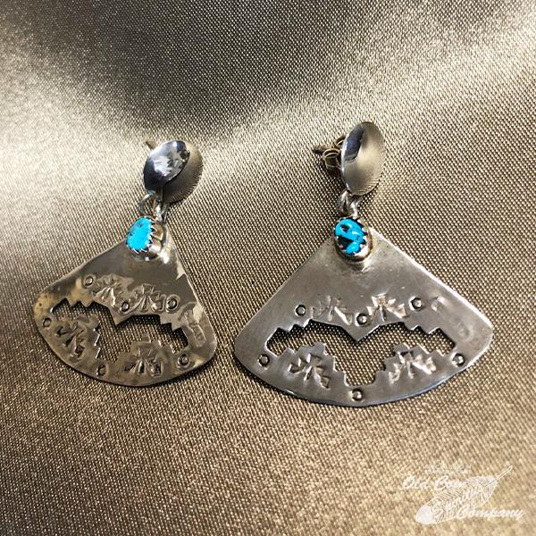 インディアンジュエリー ナバホ族 ピアス シルバー ターコイズ Indian jewelry - pierce スリーピングビューティー 税込 おすすめ メンズ レディース ギフト earring プレゼント スーパーセール期間限定 鉱山