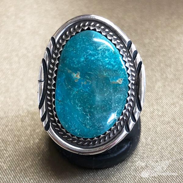 インディアンジュエリー ナバホ族 リング #14 シルバー ターコイズ Indian jewelry 国内正規総代理店アイテム - 出色 プレゼント ギフト 鉱山 おすすめ メンズ ターコイズマウンテン レディース Ring