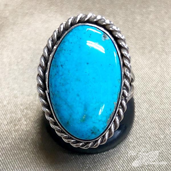 インディアンジュエリー ナバホ族 リング #14 シルバー ターコイズ 公式サイト ラッピング無料 Indian jewelry - おすすめ 鉱山 レディース Ring ギフト キングマン プレゼント メンズ