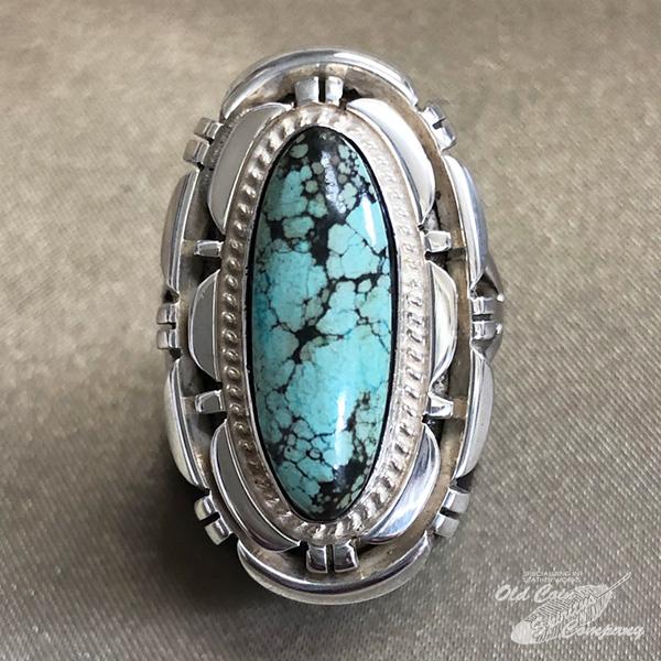インディアンジュエリー ナバホ族 リング 使い勝手の良い #17 シルバー ターコイズ Indian jewelry - プレゼント 希望者のみラッピング無料 鉱山 ダマーレマイン Ring ギフト メンズ レディース おすすめ