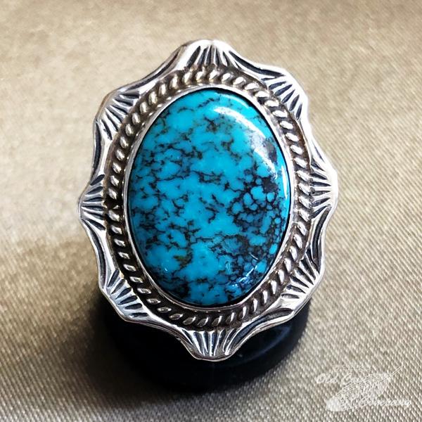 10%OFF インディアンジュエリー ナバホ族 リング #16 シルバー ターコイズ Indian jewelry - 初売り ギフト プレゼント おすすめ メンズ ターコイズマウンテン 鉱山 Ring レディース