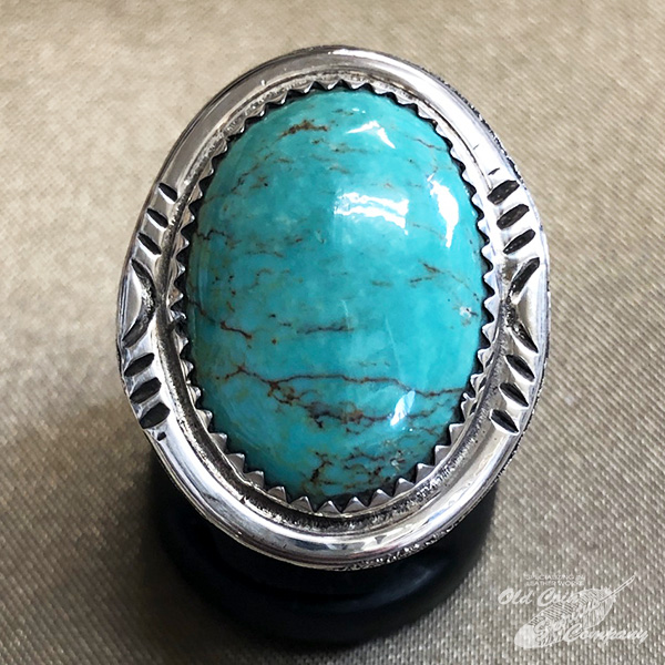 インディアンジュエリー ナバホ族 リング #15 シルバー ターコイズ Indian jewelry - Ring 期間限定の激安セール レディース おすすめ 鉱山 プレゼント ギフト 超特価SALE開催 キャリコレイク メンズ