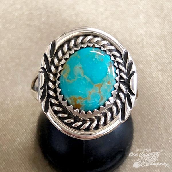 インディアンジュエリー ナバホ族 リング アウトレット☆送料無料 #18 シルバー ターコイズ Indian jewelry - メンズ 18%OFF 鉱山 ギフト レディース Ring プレゼント ロイストン おすすめ