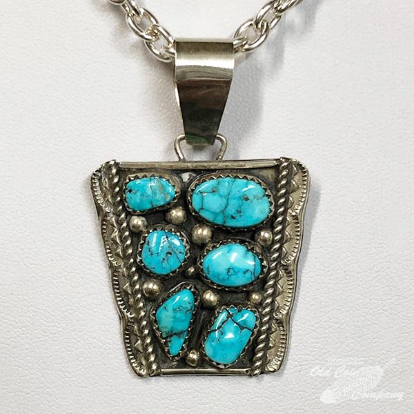 インディアンジュエリー ナバホ クラスター ペンダントトップ ターコイズ Indian jewelry Top メンズ ギフト お買得 オープニング 大放出セール レディース Pendant プレゼント おすすめ