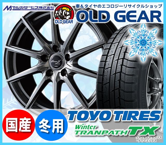 トーヨータイヤ ウィンタートランパスTX 195/60R16 スタッドレス タイヤ・ホイール 新品 4本セット マルカ ユーロストリームJL10 パーツ バランス調整済み!