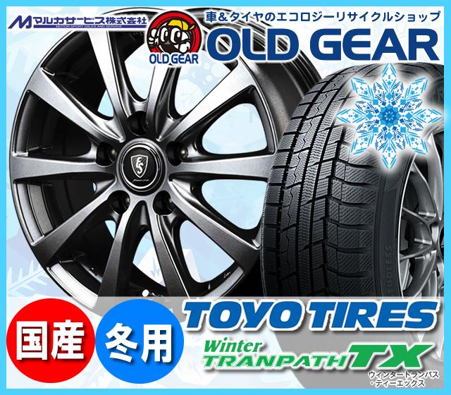 トーヨータイヤ ウィンタートランパスTX 215/60R16 スタッドレス タイヤ・ホイール 新品 4本セット マルカ  ユーロスピードG10 パーツ バランス調整済み!