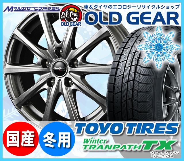 トーヨータイヤ ウィンタートランパスTX 215/60R16 スタッドレス タイヤ・ホイール 新品 4本セット マルカ ユーロスピードV25 パーツ バランス調整済み!