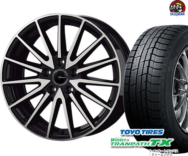 トーヨータイヤ ウィンタートランパスTX 155/65R14 スタッドレス タイヤ・ホイール 新品 4本セット コーセー プラウザー アシュラ パーツ バランス調整済み!