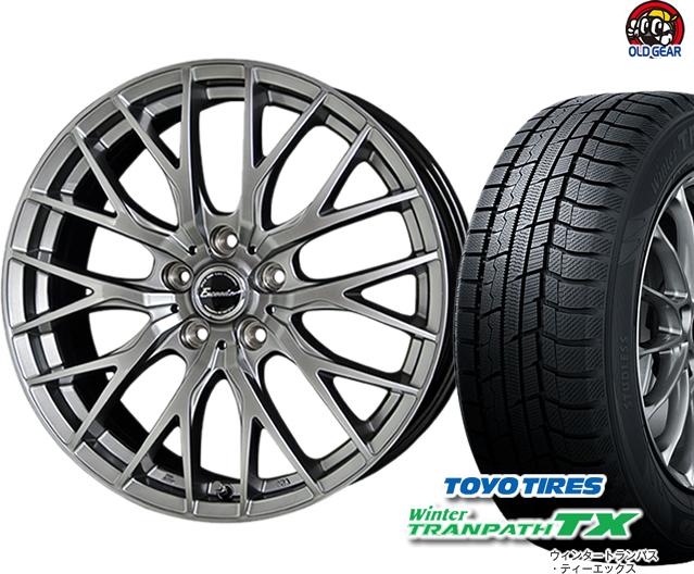 トーヨータイヤ ウィンタートランパスTX 205/60R16 スタッドレス タイヤ・ホイール 新品 4本セット ホットスタッフ エクシーダー E05 パーツ バランス調整済み!