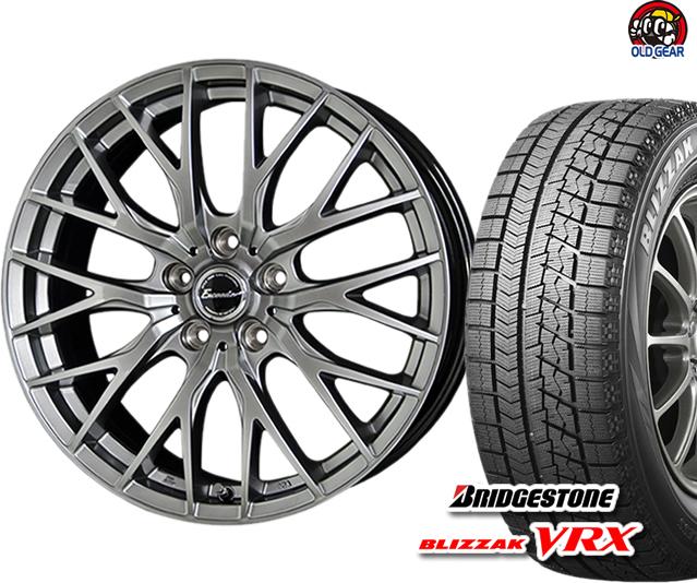 ブリヂストン ブリザック VRX 215/40R18 スタッドレス タイヤ・ホイール 新品 4本セット ホットスタッフ エクシーダー E05 パーツ バランス調整済み!
