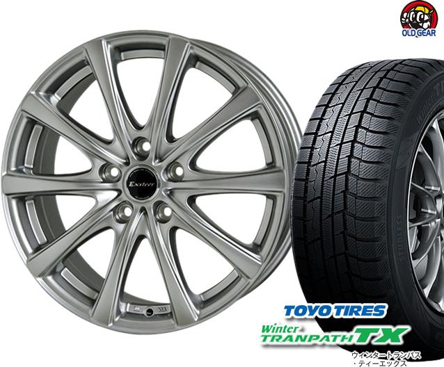 トーヨータイヤ ウィンタートランパスTX 185/65R15 スタッドレス タイヤ・ホイール 新品 4本セット ホットスタッフ エクスター プラス2 パーツ バランス調整済み!