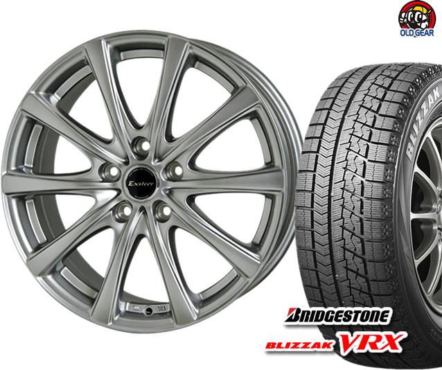 ブリヂストン ブリザック VRX 175/60R14 スタッドレス タイヤ・ホイール 新品 4本セット ホットスタッフ エクスター プラス2 パーツ バランス調整済み!
