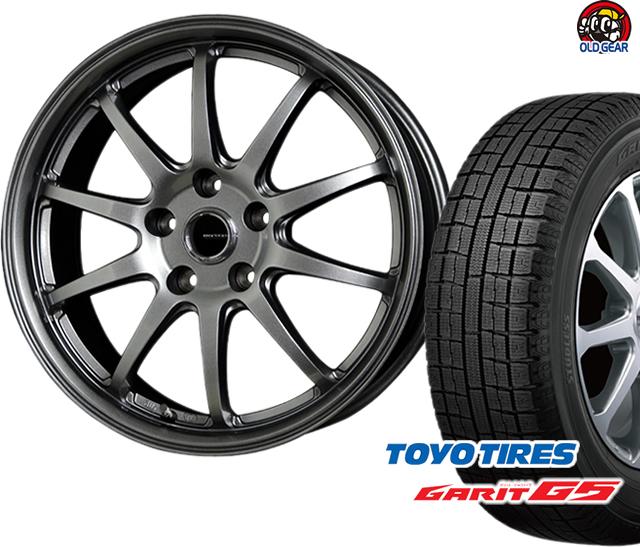 トーヨータイヤ ガリットG5 215/60R16 スタッドレス タイヤ・ホイール 新品 4本セット ホットスタッフ Gスピード G-04 パーツ バランス調整済み!