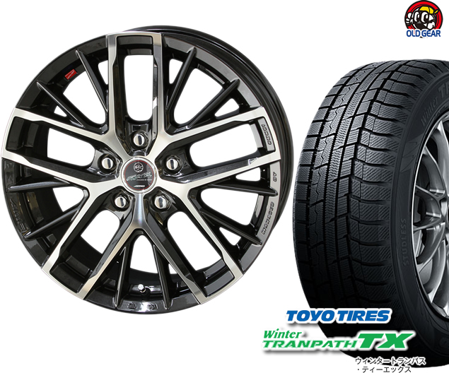 トーヨータイヤ ウィンタートランパスTX 215/65R15 スタッドレス タイヤ・ホイール 新品 4本セット 共豊 スマック レヴィラ パーツ バランス調整済み!