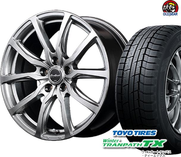 トーヨータイヤ ウィンタートランパスTX 165/55R15 スタッドレス タイヤ・ホイール 新品 4本セット ユーロスピード G52 パーツ バランス調整済み!
