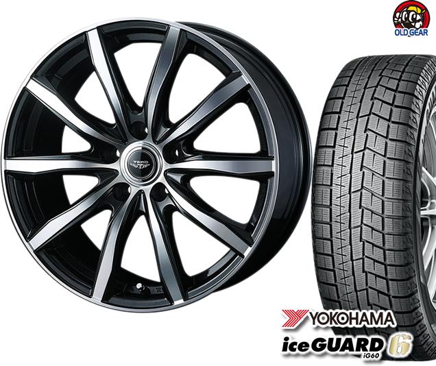 ヨコハマアイスガード6 ig60 155/65R13 スタッドレス タイヤ・ホイール 新品 4本セット ウェッズ テッド スイング パーツ バランス調整済み!